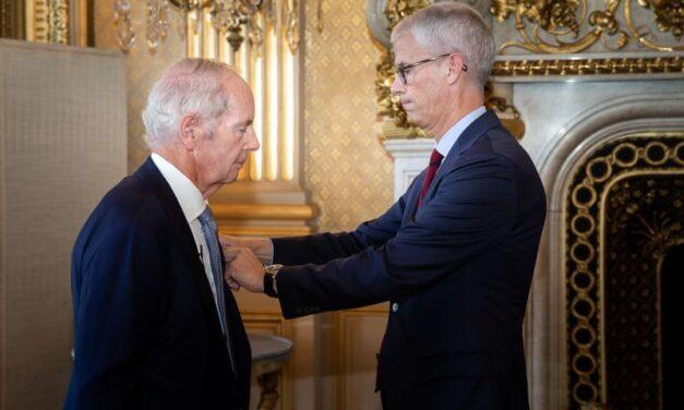 Sir Peter Rigby se confirma como el primer líder empresarial del Reino Unido en recibir la Legión de Honor de Francia